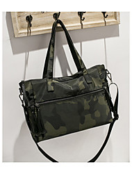 cheap -Women's Bags Nylon Shoulder Bag Zipper Black / Rainbow / Army Green