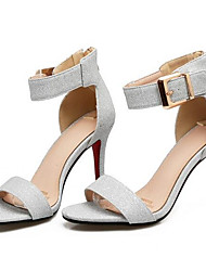 povoljno -Žene Cipele Mikrovlakana Ljeto Udobne cipele Sandale Stiletto potpetica Zlato / Crn / Pink
