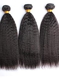 preiswerte -3 Bündel Malaysisches Haar Große Wellen 8A Echthaar One-Pack-Lösung Gewebe 10-28 Zoll Natürlich Menschliches Haar Webarten Weich Damen Natürlich Haarverlängerungen Alles