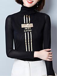 cheap -Women's T-shirt - Striped / Letter Stand
