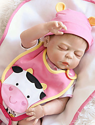 cheap -Reborn Doll Baby Girl 22 inch Silicone / Vinyl Kid's Unisex Gift