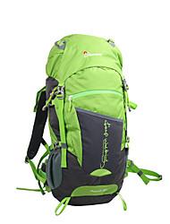 Недорогие -50 L Заплечный рюкзак - Воздухопроницаемость На открытом воздухе Пешеходный туризм 100 г / м2 полиэфирный стреч-трикотаж Оранжевый, Зеленый, Синий