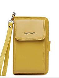 abordables -Femme Sacs Cuir Mobile Bag Phone Fermeture Jaune / Amande / Fuchsia