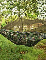 cheap -Camping Hammock Outdoor Ultra Light (UL), Collapsible Nylon for Camping / Camping / Hiking / Caving / Outdoor - 2 person Army Green