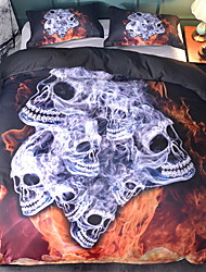 Недорогие -Хэллоуин одеяло обложки набор геометрический полист реактивной печати 3 шт.