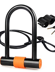 cheap -Bike Lock Cycling, Locking Security, Durable Road Cycling / Recreational Cycling / Motobike / Motorbike Copper / Steel / ABS Black / Orange
