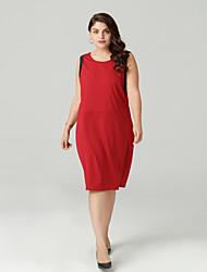 זול -עד הברך שמלה נדן רזה בסיסי בגדי ריקוד נשים