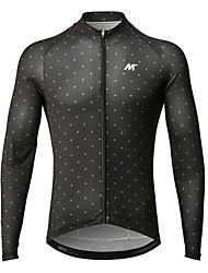 baratos -Mysenlan Homens Manga Longa Camisa para Ciclismo Moto Camisa / Roupas Para Esporte Poliéster / Zíper YKK