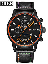 cheap -CURREN Men's Dress Watch / Bracelet Watch Chinese Calendar / date / day / Water Resistant / Water Proof / New Design Genuine Leather Band Casual / Fashion Black / Grey / Stainless Steel