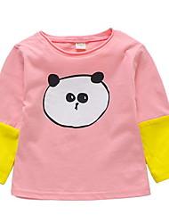 cheap -Baby Girls' Patchwork Long Sleeve Tee