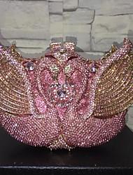 baratos -Mulheres Bolsas Liga Bolsa de Festa Detalhes em Cristal / Vazados Rosa