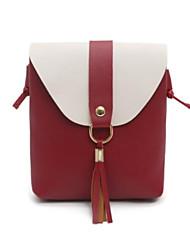 baratos -Mulheres Bolsas PU Telefone Móvel Bag Botões / Mocassim Rosa / Marron / Cinzento Claro