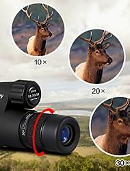 abordables -Eyeskey 10-30 X 50 mm Monoculaire Noir Camping / Randonnée / Chasse / Voyage Imperméable / Portable / Full HD / Porro / Entièrement  Multi-traitées / Observation d'Oiseaux / Vision nocturne