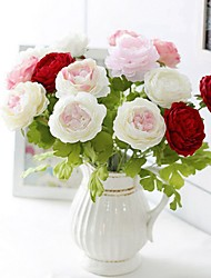 cheap -Artificial Flowers 5 Branch Classic / Single Stylish / Pastoral Style Peonies Tabletop Flower