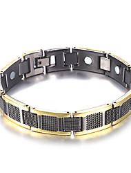 preiswerte -Herrn Stilvoll Hologramarmband Armband Nugget-Gliederarmband - Kreativ Modisch, Beiläufig / sportlich Armbänder Schwarz / Silber Für Geburtstag Geschenk