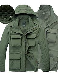 Недорогие -Муж. Куртки 3-в-1 На открытом воздухе С защитой от ветра, Дожденепроницаемый, Анатомический дизайн Зимняя куртка Скрытая молния полной длины