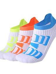 Недорогие -Компрессионные носки Спортивные носки / спортивные носки Носки для велоспорта Муж. Велоспорт Дышащий Быстровысыхающий Защитный 1 пара Креатив Хлопок Нейлон Оранжевый Зеленый Синий Один размер
