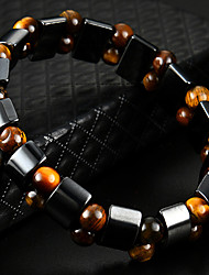 cheap -Women's Black Gemstone / Tiger Eye Stone Stylish Strand Bracelet / Bracelet - Creative Natural, Casual / Sporty, Fashion Bracelet Black For Birthday / Daily