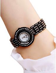 abordables -Femme Montre Bracelet Quartz Etanche Chronographe Lumineux Alliage Bande Analogique Mode Elégant Noir / Blanc - Blanc Noir / Imitation de diamant
