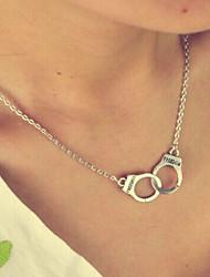 abordables -Mujer Retro / Elegante Collares de cadena / Collar - Creativo, Esposas Simple, Vintage, Moda Plata 40 cm Gargantillas 1pc Para Diario, Bar