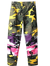 cheap -Men's Military Chinos Pants - Camouflage Patchwork / Print