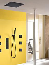 abordables -Robinet de douche - Moderne Peintures Système de douche Soupape céramique / Laiton