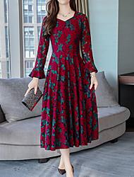 cheap -Women's Street chic / Sophisticated Sheath Dress Lace