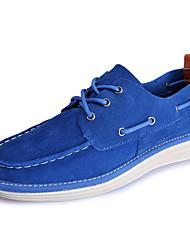 baratos -Homens Sapatos Confortáveis Camurça Primavera / Outono Casual Sapatos de Barco Azul Escuro / Azul Real