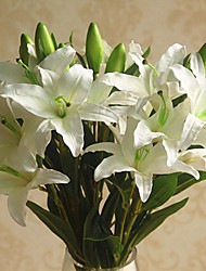 cheap -Artificial Flowers 1 Branch Classic / Single Stylish / Pastoral Style Lilies Tabletop Flower