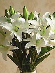 Недорогие -Искусственные Цветы 1 Филиал Классический Односпальный комплект (Ш 150 x Д 200 см) Стиль Пастораль Стиль Лилии Букеты на стол