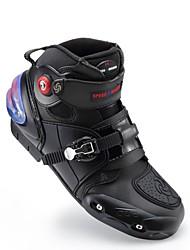 Недорогие -верховая езда мотоцикл ботильоны сапоги противоскользящие гоночные защитные ботинки мотокросс мотобайк внедорожник moto boot foot протектор - черный