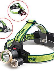baratos Faróis-Lanternas de Cabeça LED Luzes de Bicicleta Ciclismo Ajustável 18650.0 1000 lm Campismo / Escursão / Espeleologismo / Ciclismo / ABS