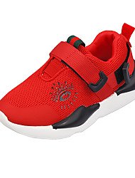 cheap -Boys' Shoes Mesh Fall & Winter Comfort Sneakers Walking Shoes Buckle for Teenager Black / Red