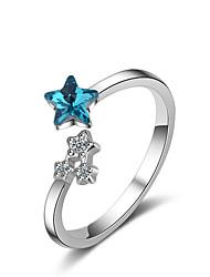 abordables -Anneau ouvert Femme Classique Stardust Argent sterling Bijoux Argent pour Mariage Quotidien 1pc