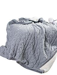 Недорогие -Супер мягкий, Активный краситель Однотонный / Полоски Акриловые волокна одеяла