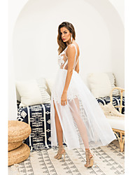 abordables -vestido de la envoltura delgada del club de las mujeres de cintura alta maxi deep v