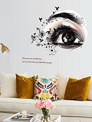 Недорогие -Декоративные наклейки на стены - 3D наклейки / Люди стены стикеры Геометрия / Цветы Детская