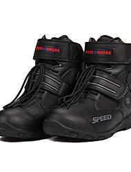 Недорогие -езда племени дышащая мотоцикл сапоги мото обувь мотоцикл нескользящая верховая езда мотокроссов pu кожаная обувь - черный