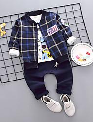 Недорогие -малыш Мальчики Сова Гусиная лапка Длинный рукав Набор одежды