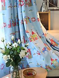 abordables -Rideaux occultants rideaux chambre d'enfants Bande dessinée Mélange de polyester Imprimé