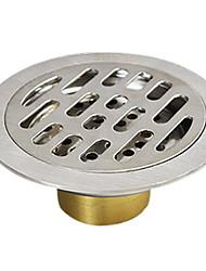Недорогие -Слив Новый дизайн / Cool Современный Латунь / Нержавеющая сталь / железо 1шт истощать Установка на полу