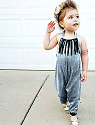 cheap -Kids / Toddler Girls' Solid Colored Sleeveless Overall & Jumpsuit