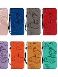 Недорогие -Кейс для Назначение Nokia Nokia 6 2018 / Nokia 3.1 Кошелек / Бумажник для карт / со стендом Чехол Бабочка Твердый Кожа PU для Nokia 6 2018 / Nokia 5 / Nokia 5.1