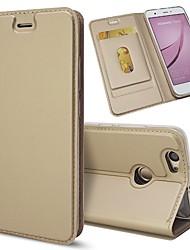 preiswerte -Hülle Für Huawei Nova 2 / Nova Kreditkartenfächer / mit Halterung / Flipbare Hülle Ganzkörper-Gehäuse Solide Hart PU-Leder für Nova 2 Plus / Nova 2 / Nova