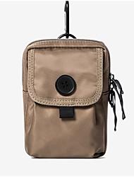 cheap -Men's Bags Nylon Mobile Phone Bag Zipper Black / Orange / Khaki