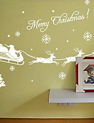 Недорогие -Оконная пленка и наклейки Украшение Рождество Праздник ПВХ Глянцевый