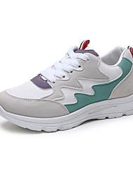 Недорогие -Жен. Вулканизованная обувь Синтетика Весна & осень На каждый день Спортивная обувь Для фитнеса На плоской подошве Зеленый / Розовый / Контрастных цветов