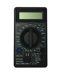 abordables -multimètre numérique portatif d'affichage à cristaux liquides dt830b-1000v noir pour la maison et la voiture