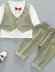 preiswerte -Baby Jungen Verziert Langarm Kleidungs Set