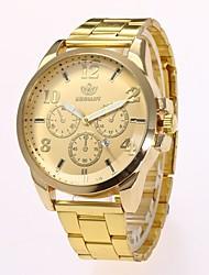 Недорогие -Муж. Нарядные часы Наручные часы Кварцевый Золотистый Новый дизайн Повседневные часы Аналоговый Классика На каждый день Мода - Золотой Черный Один год Срок службы батареи